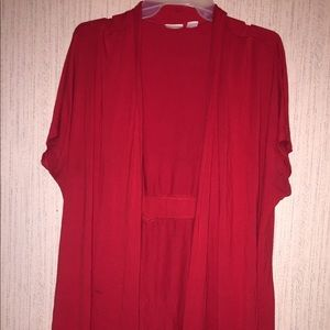 Women's Cato Red Cardigan Size 18/20W